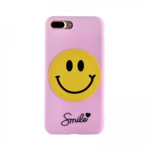 China Soft Silica gel Big Smile Face Back Cover Cell Phone Case For iPhone 7 6s Plus on sale