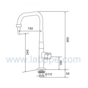 Quality SHA25-1-Single Way Lab Tap/Faucet,360 swing,one way lab tap,1way laboratory for sale