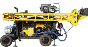 China HWL Drilling Depth 1000m  Wheel Trailer Hydraulic Core Drilling Machine on sale