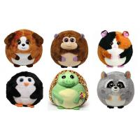 25cm Round Shape Animal Promotional Gifts Toys Green / Brown / Grey Color