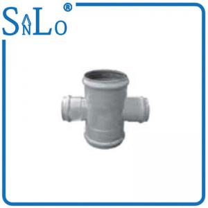China Lightweight Insert Pvc Cross Tee Pipe Fitting Good Chemicals And Drugs Resistance on sale