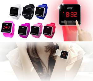 China Design Japan Movement Touch Screen LED Digital Watches For Lovers on sale