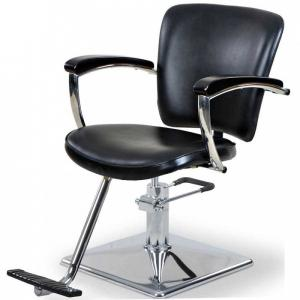 China Round / Square Base Salon Hair Styling Chairs With Chrome Steel Foot Plate on sale