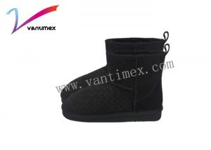 China Female Flat Basic Cotton Women Ugg Boots / Winter Snow Boots Cotton Short Cylinder Upset on sale