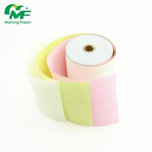 China Invoice Ncr Carbonless Paper, Carbonless Laser Paper Wide Range Colours Deep Thermal Image on sale