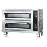 China Two Deck Two Trays Commercial Bread Oven  Stainless Steel Deck Oven for Bread on sale