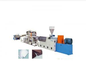 China Wood Plastic Cabinet Twin Extruder Machine , Furniture WPC Board Production Line on sale