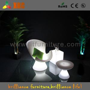 China Garden / Outside / Inside LED Bar Chairs , RGB Light LED Lounge Chair on sale