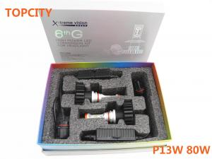 China Hot led headlight bulbs P13W 80W headlight LED competitive price 80W led auto headligt on sale