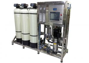 China Reverse Osmosis RO Water Treatment System Hardness Softener With PLC Touch Screen on sale