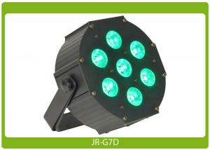 China Metallic Flat Par Can 7* 12W RGBAW+UV, DMX at an affordable price on sale
