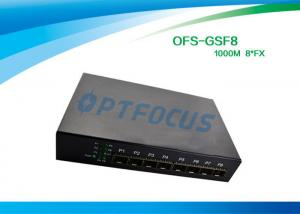 China 8 Port 12 Gbe SFP Fiber Optic Ethernet Switch 100 BASE - Fx DC5V 1A Power supply on sale