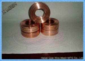 China Custom Copper Galvanized Steel Wire 350 - 550 MPa With 2.25mm X 0.5mm Size on sale