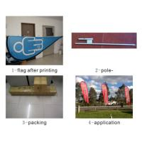 polyester material Custom size and design Flag Printing , digital heat transfer printing
