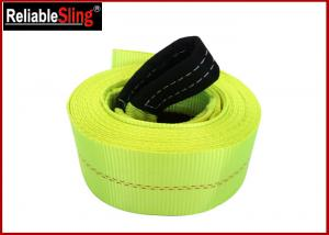 Quality High Tenacity Industrial Polyester Yarn Heavy Duty Tow Straps Car Recovery Straps With Hooks for sale