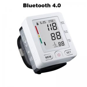China Bluetooth 4.0 Wrist digital lcd blood pressure monitor portable Tonometer Meter blood pressure meter for iOS and Android on sale