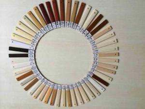 China 1.8MM SGS high gloss OAK PVC edge banding Soft  with wood grain on sale