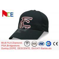 FUN Black Color Company Baseball Caps , Rubberized Make Your Own Baseball Hat