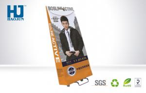 China Recycle Paper Advertising Corrugated cardboard Trolley Bag Display for Clothes on sale