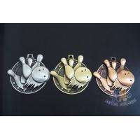 China Metal Zinc Alloy Custom Bowling Sports School Engraved Medals With 2D Or 3D Type, Lanyard Or Ribbon on sale