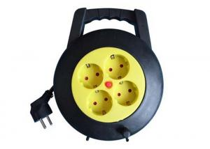 China 4 Way 220V Small Cable Reel Extension Cord Power Strip 16 Amp PP Material on sale