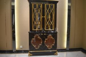living room antique wood furniture glass cabinet 2 doors golden rh homeluxuryfurniture com sell everychina com