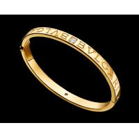 China BVLGARI BVLGARI bracelet in 18 kt yellow gold with diamonds Also available in pink and white gold on sale