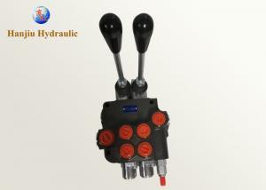 Two Spool Hydraulic Monoblock Valves P40 Hydraulic Motor Control