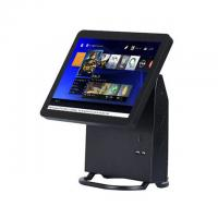 Single Touch Screen Restaurant Pos System Black Color With Energy Saving CPU