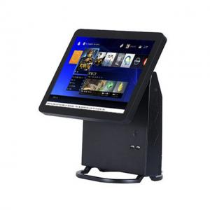 China Single Touch Screen Restaurant Pos System Black Color With Energy Saving CPU on sale
