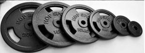 China Custom Iron Weight Plates , Cast Iron Olympic Weight Plates Fit Build Muscle on sale