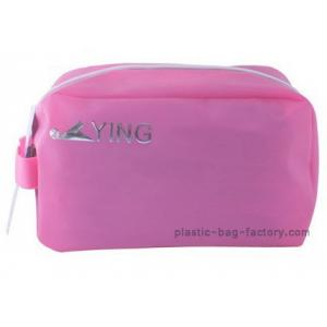 China Pink BPA - Free EVA Travel Cosmetic Bags Plastic Beach Bag With Sturdy Handle on sale