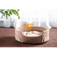 Indoor Round Small Dog Kennel / Cat Kennel Pets Dog Bed With Fabric Material