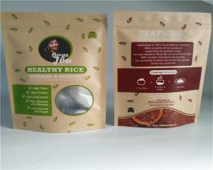 China Front Side Clear Customized Paper Bags For Powder / Candy / Coffee on sale
