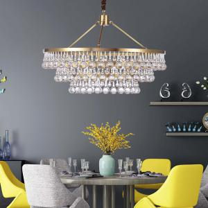 drop crystal pendant lights gold chandelier for indoor home living rh ltcele sell everychina com