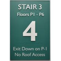 "Straight Edge ADA Compliant Signs 12""X18"" , Acrylic Panel Braille Exit Stair Sign"