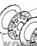Friction Brake plate Paper Based Komatsu DISC CA0132690 for Heavy equipment