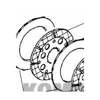 China DISQUE sur papier CA0132690 de KOMATSU de plat de frein de frottement pour l'équipement lourd on sale