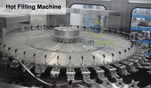 China 4 dans 1 machine de remplissage à chaud de jus de pulpe de Monoblock pour des bouteilles d'ANIMAL FAMILIER on sale