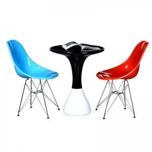 China Bar Modern Leisure Chairs / Stainless Steel Base Dining Side Chair on sale
