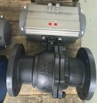 Single Acting Ball Valve Pneumatic Actuator Flanged Connection For Natural Gas