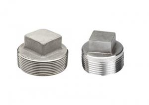 China Square Head Stainless Steel Threaded Pipe Fittings Threaded Plug 304 BSP ASME B16.11 on sale