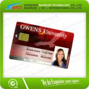 China Cartes futées de la puce IC de PVC de la taille de haute qualité cr80 de carte de crédit on sale