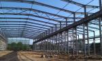 ASTM Standard Good Quality Workshop Steel Structure- 1500㎡ with Blue Color