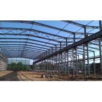 China ASTM Standard Good Quality Workshop Steel Structure- 1500㎡ with Blue Color on sale