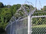 ISO-2001 Steel Chain Link Fencing , 3.65m High Metal Chain Link Gate