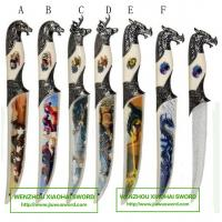 decorative craft knife with animal head handle letter opener knife 955033
