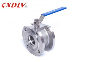 China PN25 High Pressure Handle Wafer Floating Ball Valve PTFE PPL Seat on sale