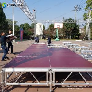 China Outdoor music concert portable moving tent platform aluminum stage for sale on sale