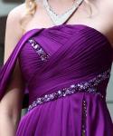 優雅な床の長さのチャペルの列車の刺繍の成長したイブニング・ドレス/新婦付添人は服を着ます